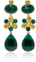 Bounkit Malachite and Lemon Quartz Four-Way Earrings