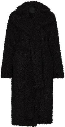 Markoo Shearling Mid-Length Coat
