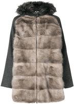 P.A.R.O.S.H. fur panelled jacket - women - Mink Fur/Polyester/Wool/Marmot Fur - S
