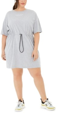 Calvin Klein Plus Size Cotton Drawstring T-Shirt Dress