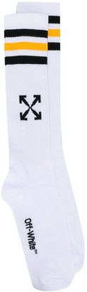 Off-White Arrows ribbed-knit sport socks
