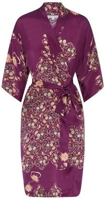 Genevie - Silk Kimono Reina - Purple / M/L