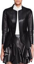 Alexander McQueen Bonded Leather Jacket, Black