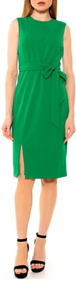 Alexia Admor Kinsley Crew Neck Side Slit Sheath Dress