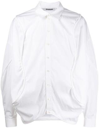 Chalayan Long Sleeve Curved Seam Shirt