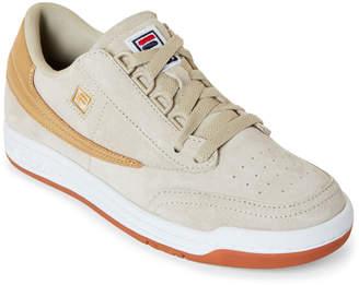 Fila Cream & Gold Original Tennis Low-Top Sneakers