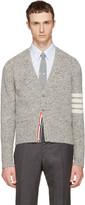 Thom Browne Grey Classic Mohair V-neck Cardigan
