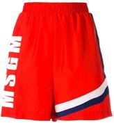 MSGM printed logo shorts - women - Polyamide/Polyester - 40