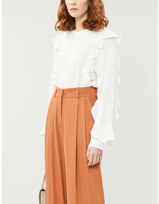 Designers Remix Eliza ruffled woven blouse
