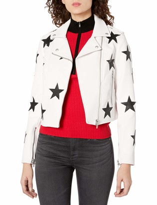Blank NYC Womens Faux Leather Jacket