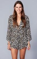 MUMU Roxy Romper ~ Velveeta Cheetah Stretch