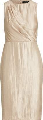 Ralph Lauren Sash-Front Satin Dress