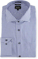 Neiman Marcus Trim-Fit Regular-Finish Dobby Pinwheel Dress Shirt