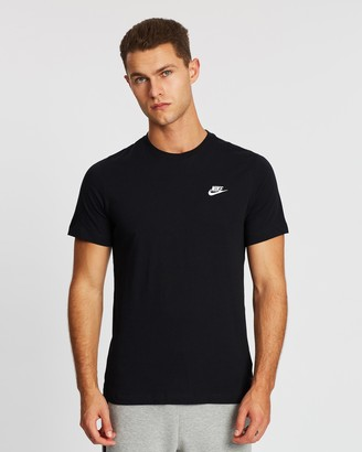 Nike Men's Black Short Sleeve T-Shirts - Club Tee - Men's - Size S at The Iconic