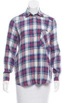 Roseanna Plaid Button-Up Top