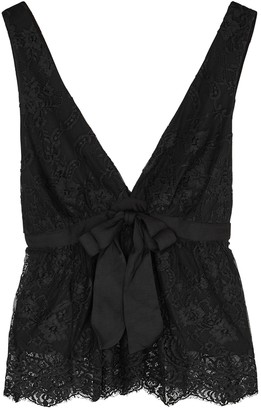 Free People Chante Black Lace Top