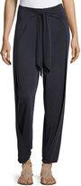 Haute Hippie Front-Tie Harem Tie-Front Pants, Blue