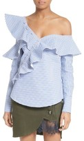 Self-Portrait Women's Asymmetrical Ruffle Top
