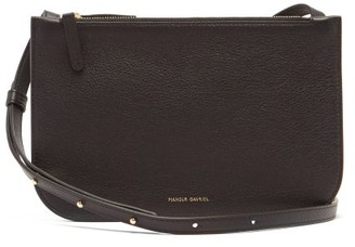 Mansur Gavriel Double Leather Cross-body Bag - Black