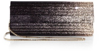 Jimmy Choo Sweetie Degrade Glitter Acrylic Clutch