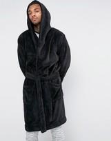 Asos Loungewear Hooded Fleece Robe