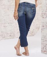 Distressed Dark Wash Suki Capri Jeans