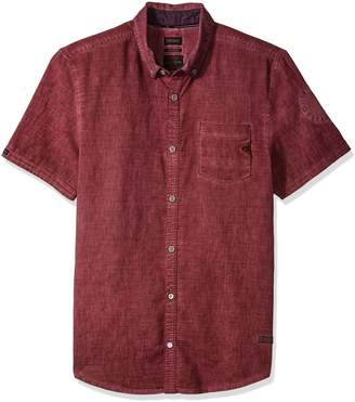Buffalo David Bitton Men's Sakuli Short Sleeve Solid Fashion Button Down Shirt