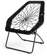 Bunjo Chair Bungee Chair Hex (Black). Great for College, Teens, Kids, Sporting Events