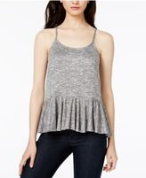 Bar III Peplum Tank Top, Created for Macy's