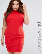 Club L Plus Bandage Dress With Cap Sleeve