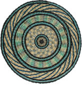 Dransfield and Ross Round Place Mat, Blue/Multi