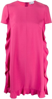 RED Valentino Ruffle-Trim Trapeze Dress