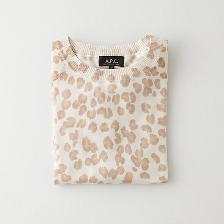 A.P.C. leopard print pullover