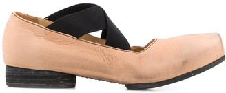 UMA WANG Distressed Pointe Flat Shoes