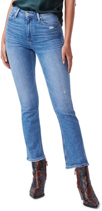 Paige Claudine High Waist Distressed Ankle Flare Jeans