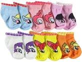 """My Little Pony Baby Girls' """"Sweet Eyes"""" 6-Pack Low-Cut Socks"""