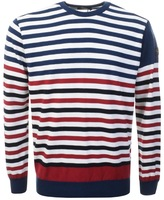 Paul & Shark Paul And Shark Crew Neck Striped Jumper Blue