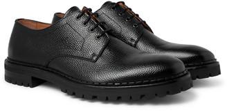 Lanvin Pebble-Grain Leather Derby Shoes