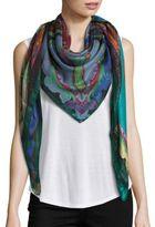 Etro Glitter Paisley Wool & Silk Scarf