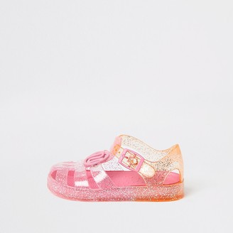 River Island Mini girls pink ombre jelly sandals