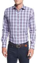 Peter Millar Plaid Sport Shirt, Navy Multi