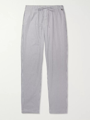 Hanro Night & Day Checked Cotton Pyjama Trousers