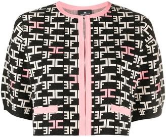 Elisabetta Franchi Logo Print Knitted Jumper