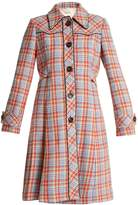 Miu Miu Stud-embellished checked coat