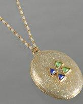 silver 'Bright Stone' glitter pendant necklace
