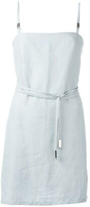 Jean Louis Scherrer Pre-Owned Belted Mini Dress