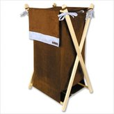 Trend Lab Hamper Set - Brown/Blue Ultra Suede - Hamper Frame , Hamper Liner .