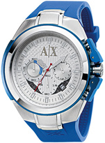 Armani Exchange Blue Rubber  Stainless Steel Watch