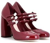 Miu Miu Embellished patent leather pumps
