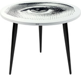 Fornasetti Occhio Table with Wooden Legs - 60cm Dia